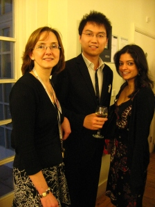 Jason, Ish and Jane at UK / China internship event