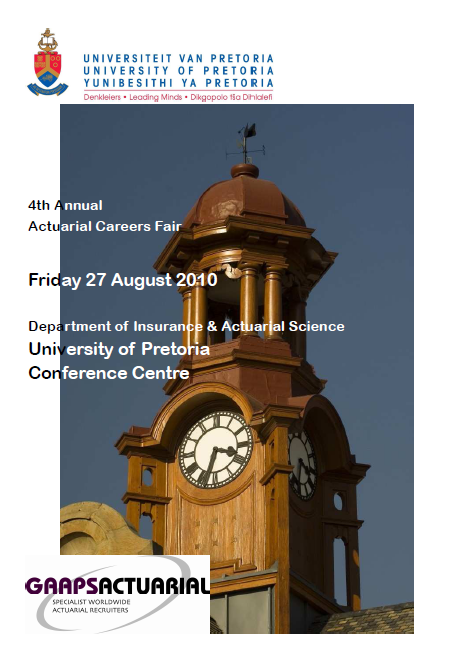 4th Annual Actuarial Careers Fair | Friday 27th August 2010